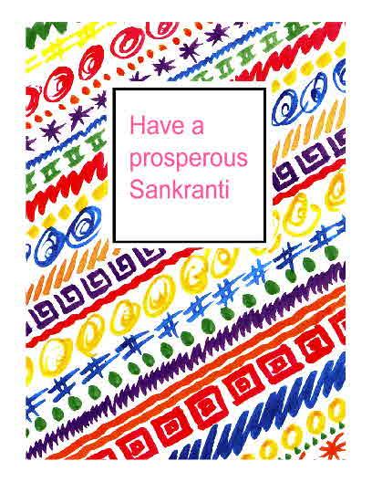 Sankranti is auspicious day