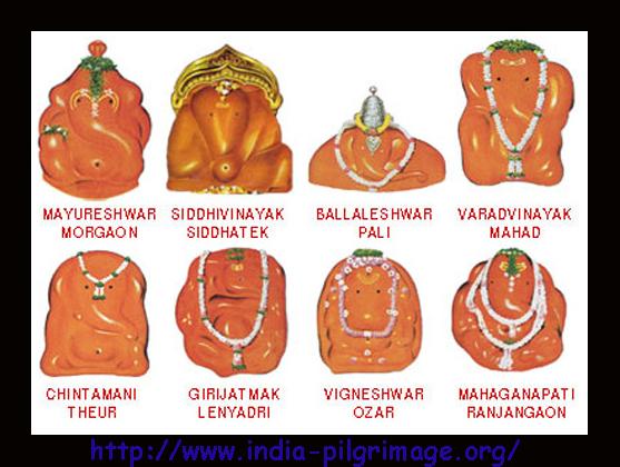 Ashtavinayak temples in Maharashtra