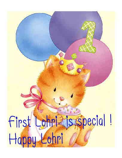 happy lohri and baby