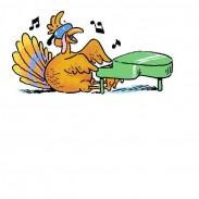 TURKEY PLAYING PIANO